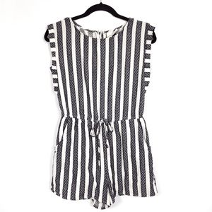 Universal Thread Navy Striped Romper